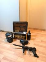Complete Paintball set met een volle doos paintballs